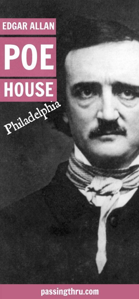 Edgar Allan Poe Historic Site in Philadelphia, USA is the only Philly residence of the author remaining. #poe #philadelphia #travel