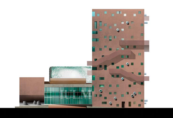 IULM - Diamante Boa by Casalgrande Padana #diamanteboa #iulm #casalgrandepadana #piastrelle #ceramica #ceramics #design #architecture #architettura #università #interiordesign#madeinitaly