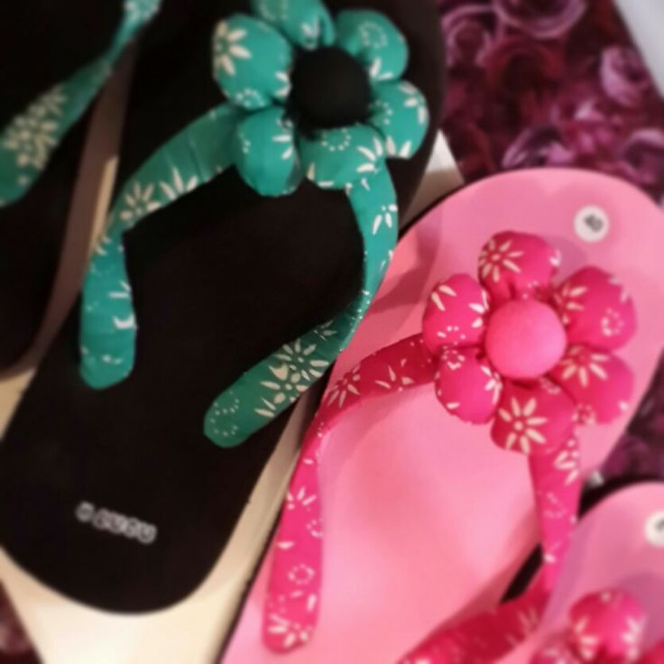 Sandal Flower PinkCute by House Of Lucu Material Batik Fabric follow my Instagram @Houseoflucu