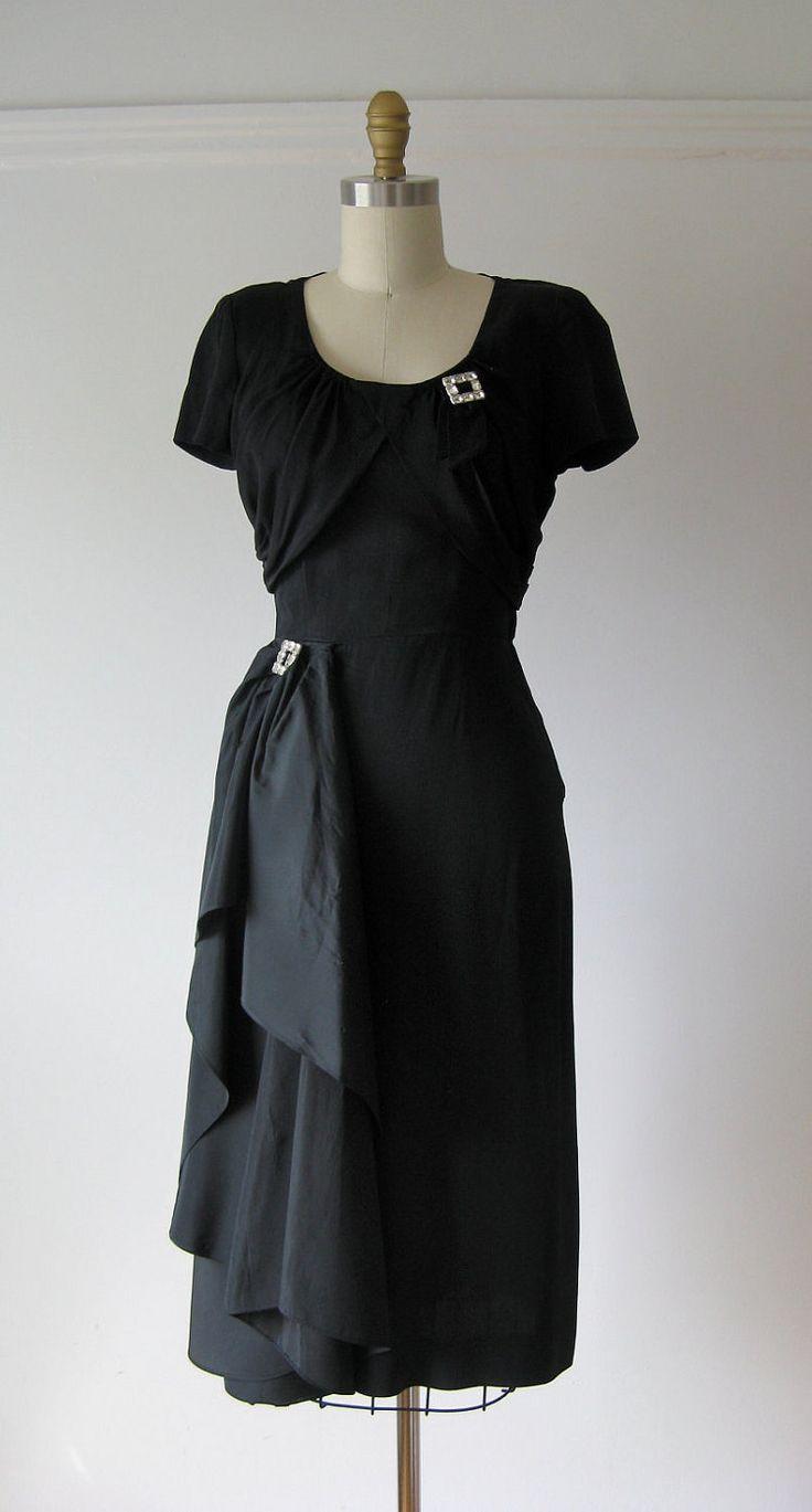 36 best 1940s Cocktail Dresses images on Pinterest | Fashion vintage ...