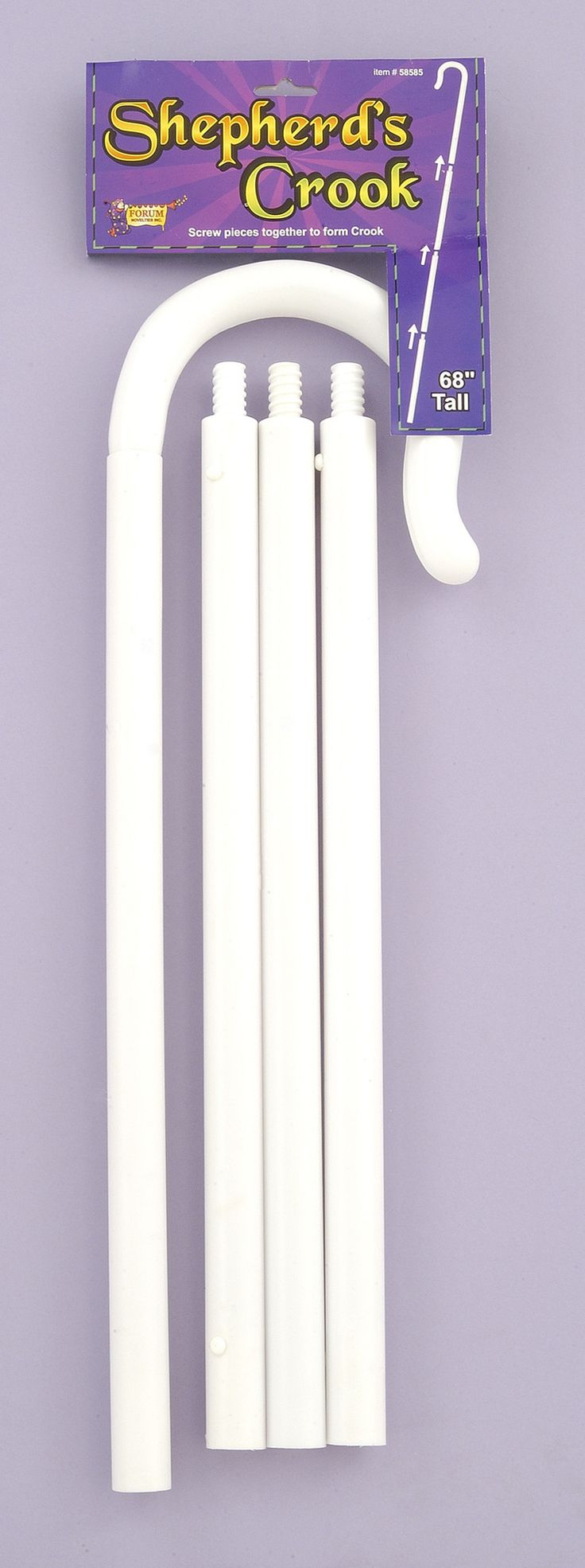 """*Shepherd's Hook *68"""" Tall *Easy Assembly *Great Accessory For Any Costume *Brand New In Manufacturer Packaging"""