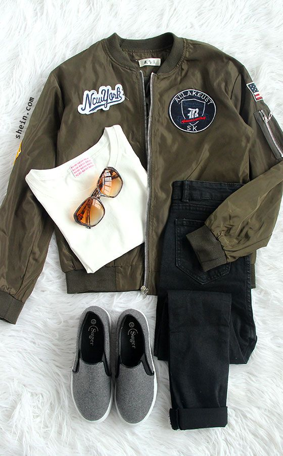 The most hot item in 2016 autumn, Satin bomber jacket, feature patch embroidered jacket, army green military jacket for street style!