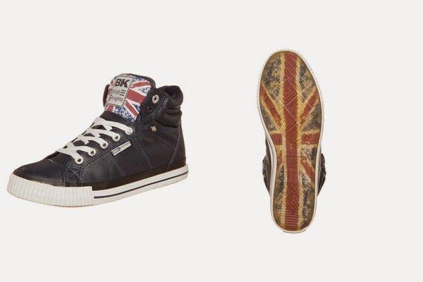 British Knights DEE - Herren Sneaker high, navy/union jack - 37%