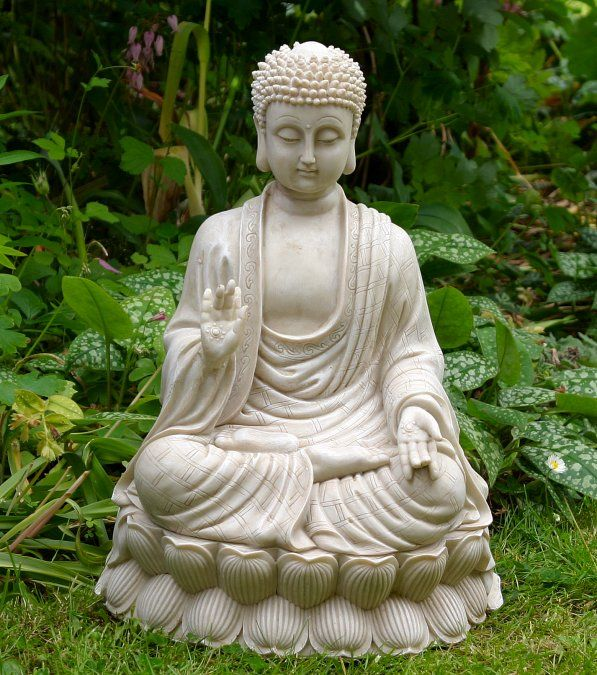 Sitting Thai Buddha Garden Statue Buddhist Art Pinterest