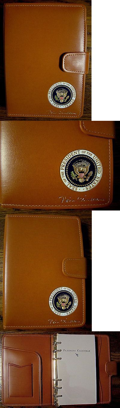 Bill Clinton: President Bill Clinton Day Planner - Address Book - Presidential - White House BUY IT NOW ONLY: $215.0