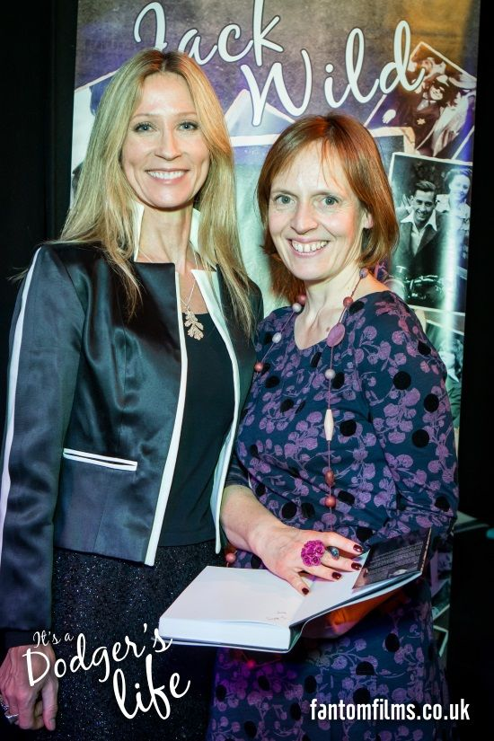 Widow Claire Harding and friend, the actress Angela Dixon, at the book launch of Jack Wild's autobiography: It's A Dodgers Life. #celebrities #JackWild #actor #Oliver #AngelaDixon #neverletgo #Claire Harding