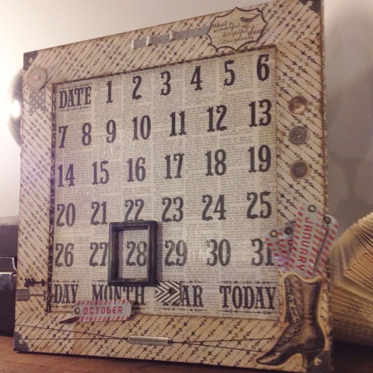 Scrapbooking calendar