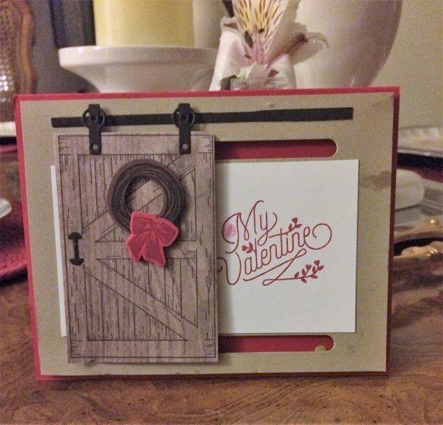 Barn Door Valentine Card to Hubby