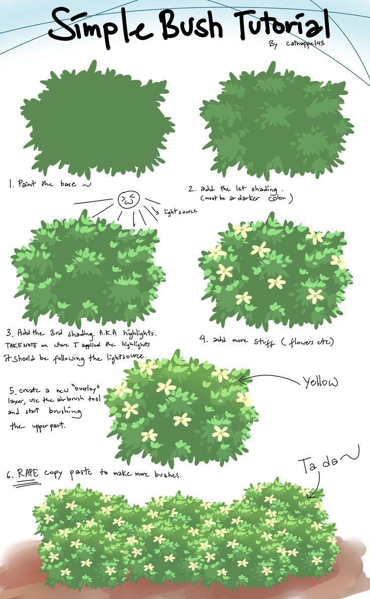 Bush tutorial by catnappe143 on deviantART via PinCG.com