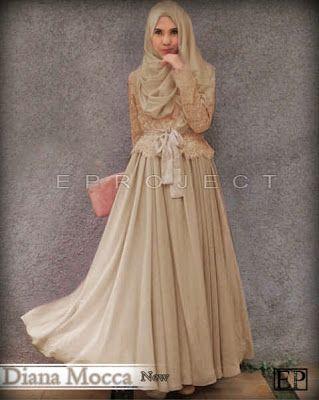 Diana Mocca Set  hijabers Harga Rp 140.000 (Rok Lebar + Atasan Brukat Coklat Lapis + Obi +  Pashmina) Allsize  Fit M- XL,  Bahan Spndx Korea GOOD QUALITY baju hijabers BAJU BEST SELLER