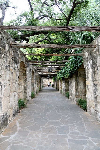 the walls of the Alamo