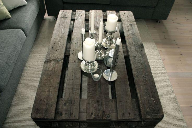 """Har i en lengre periode tenkt på at det hadde vært kult å lage et bord av paller, altså et """"Pallebord"""".  Og i den siste tiden har det enormt..."""