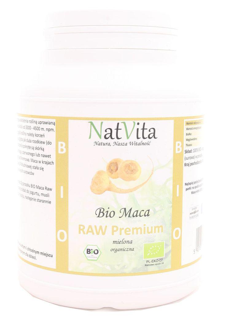 Kup teraz! Bio maca raw premium mielona - BIO - Nat Vita - 1000g w najlepszym sklepie ze zdrową żywnością