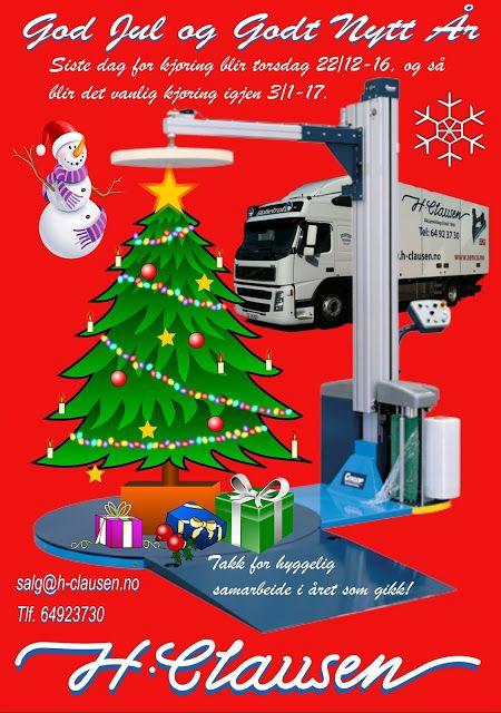 H. Clausen AS: Kjøretider i Julen H. Clausen AS