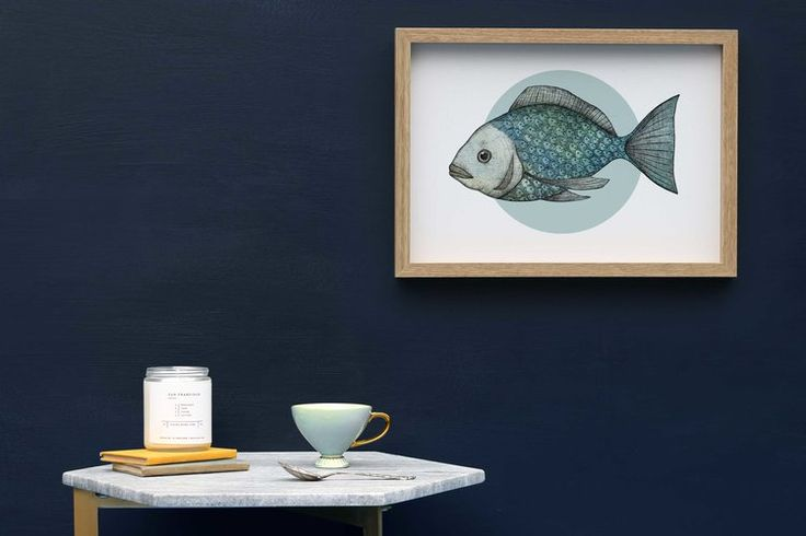 Fish Scales Framed