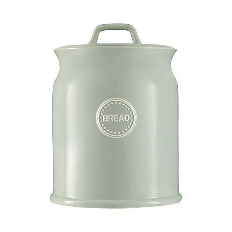 At home with Ashley Thomas Pale green bread bin jar | Debenhams