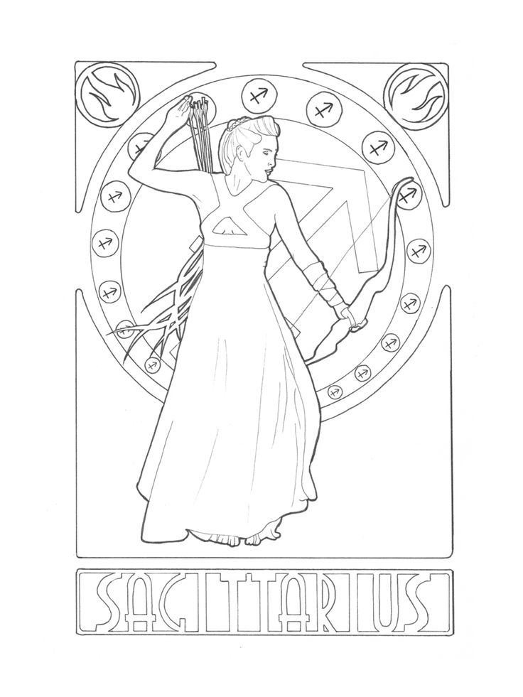 sagittarius coloring pages - photo #46