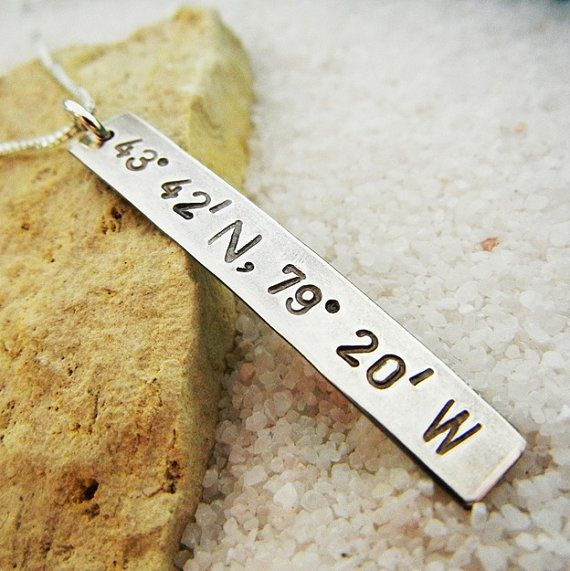 Long Distance Love Necklace Boyfriend Gift by ERiaDesigns on Etsy