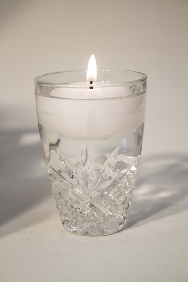 glass floating candle container