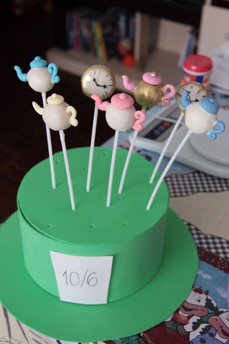 Cakepops Alice no País das Maravilhas!