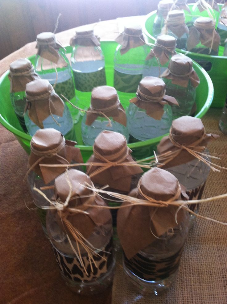 Water Bottles For Jungle Book Baby Shower