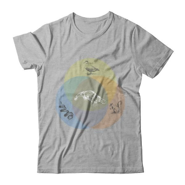 Men And Womans Funny Platypus Venn Diagram T Shirt Costume Teely