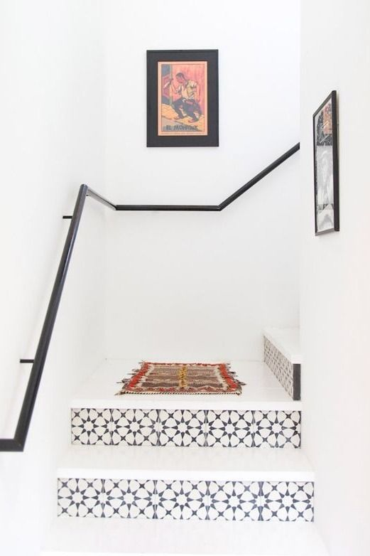 Bright stairs with geometric tiles | My Domain