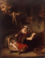 Rembrandt Harmensz. van Rijn: The holy family with the angels