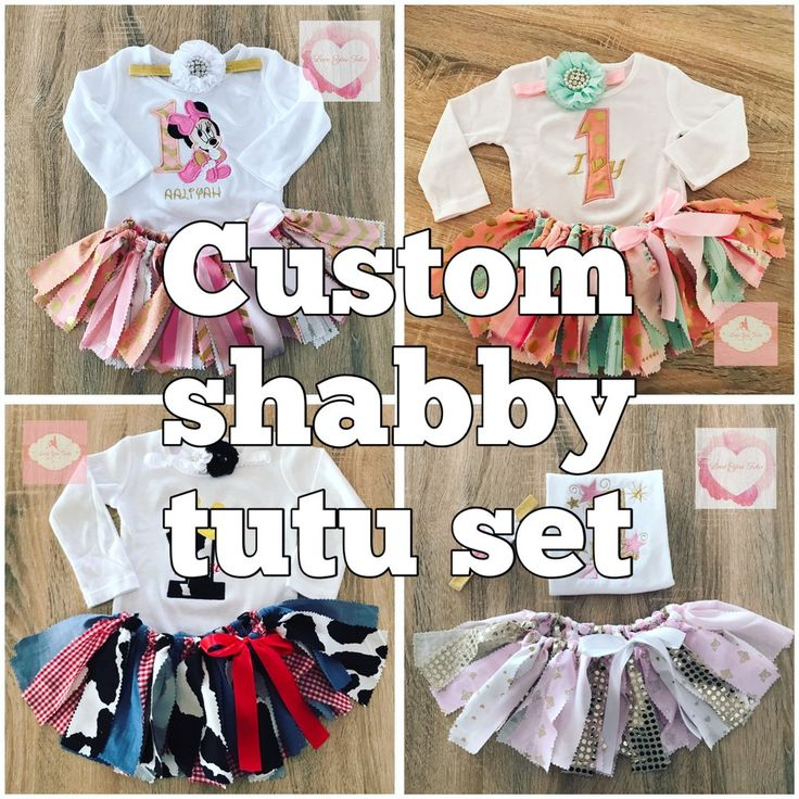 *Custom Embroidered Shabby tutu set