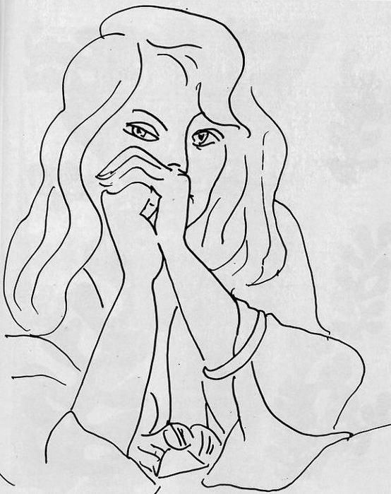 Henri Matisse  A Woman with Loose Hair, 1944