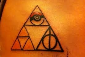 Pokemon, Harry Potter, and Legends of Zelda tattoo! Holy mother of all things nerdy in my life I want this!!!!