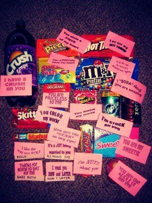Cute Valentines Day CANDY Ideas For Boyfriend/crush  ️ ...