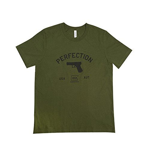 Glock OEM Perfection Pistol Short Sleeve T-Shirt, Large, ...