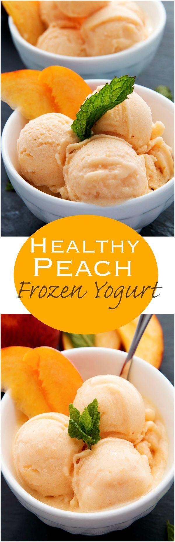 1 Mint, leaves. 1 (16-oz. bag Peaches, frozen. 4 tbsp Agave nectar or honey. 1 tbsp Lemon juice, fresh. 1/2 cup Yogurt, plain non-fat or whole.