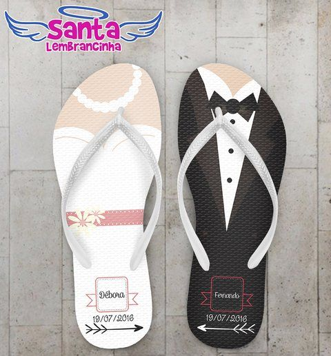Chinelo Casamento Personalizado, Noivos - COD 2246 - comprar online