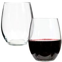 bulk luminarc stemless glass wine glasses 21 oz at trees dollar tree and ea. Black Bedroom Furniture Sets. Home Design Ideas