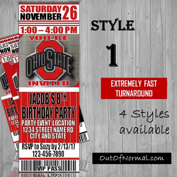 *** I provide extremely fast turnaround time and communication. Check my reviews! If ordered by 8:00 CST, youll have your files same day.*** Personalized College team ticket listing with your party event details. ********************************************* HOW TO ORDER: