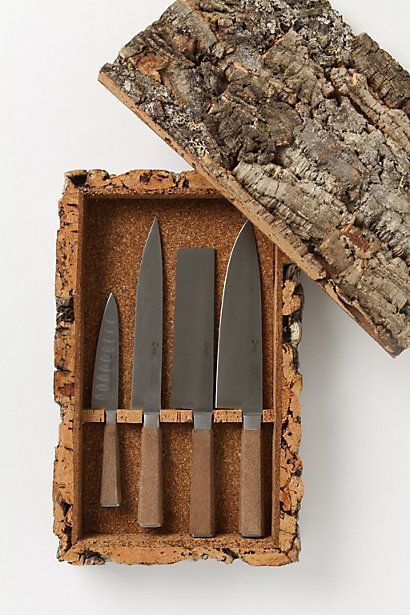 Cork Knife Set – literally the coolest thing ever. I love nature-y looking stuff like this, would look so good in my dream home.