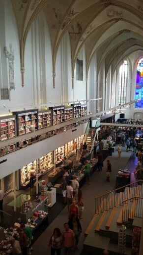 Old church turned into incredible bookstore Waanders in de Broeren, Zwolle