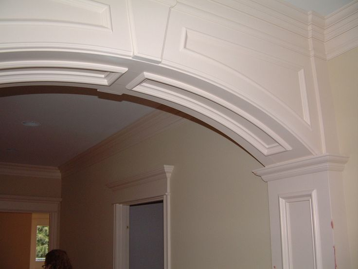 White Arched Window Kitchen