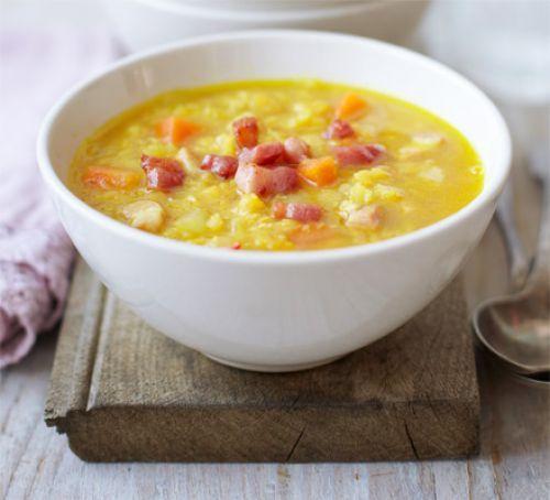 Lentil & bacon soup