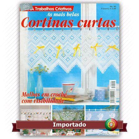 Revista Diana Cortinas Curtas nº 40 Idioma em Português de Portugal - Malhas em croché com visibilidade - As mais belas cortinas curtas Fabricante: Editora Alternativas