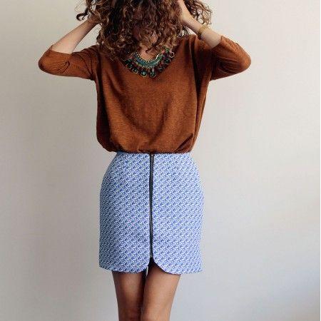 Patron de couture pdf SISTER MINI - du 32 au 48 - Mini jupe zippée | Vanessa Pouzet