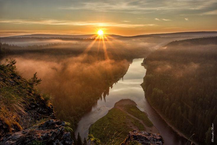 река Усьва Пермский край, правый приток реки Чусовой.