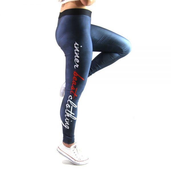 Inner Beast Clothing brushed strokes design. Womens Workout Leggings. Tech leggings perfect for every workout. Moisture wicking, lightweight and won't go see through!