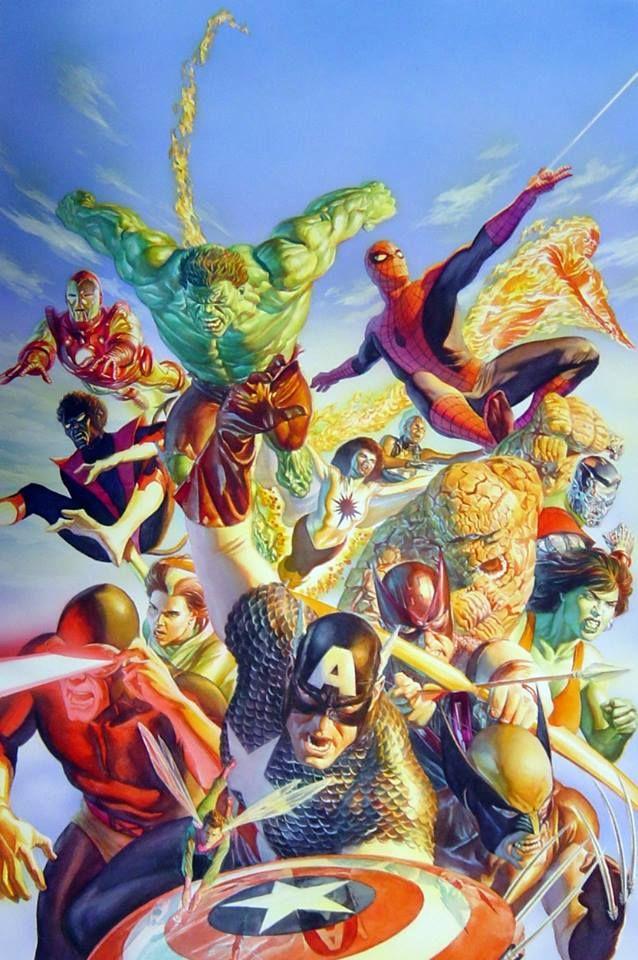 10 sublimes toiles Marvel réalisées par Alex Ross