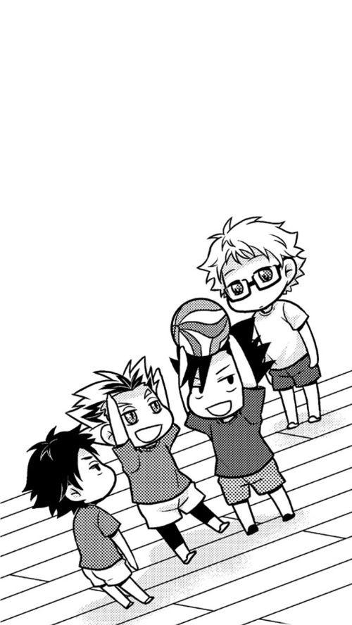 Haikyuu Akaashi, Bokuto, Kuroo & Tsukishima chibi