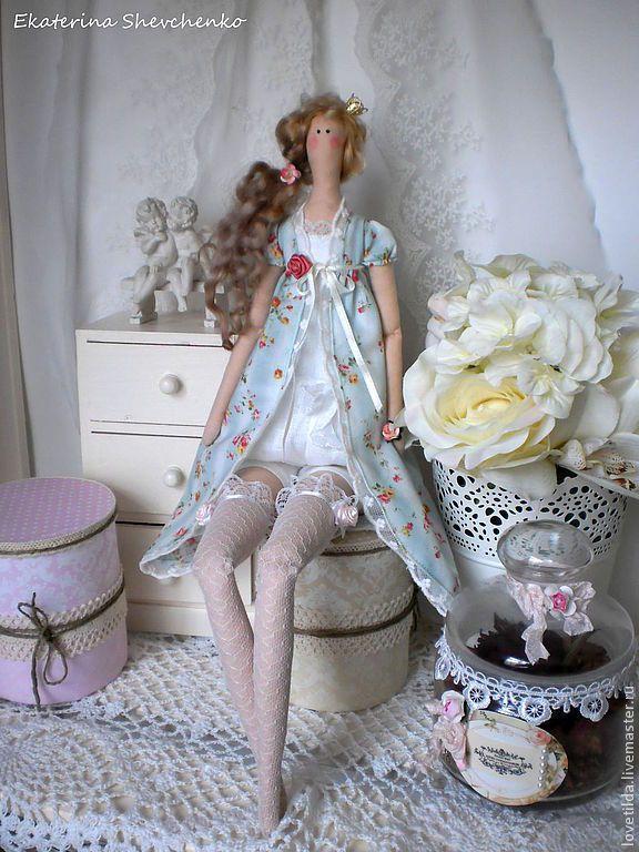 Купить Нежная принцесса Изабелла - мятный, принцесса, тильда, кукла ручной работы, текстильная кукла ♡
