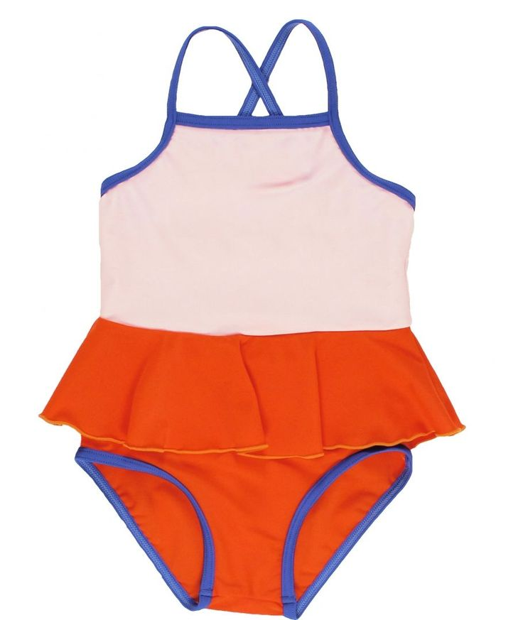 Swimsuit Frill pale pink