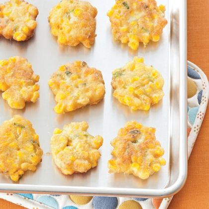 Corn Crisps- made a few hrs ahead and stored, to reheat simply remove cover, place in oven at 400 for 5-7 minutes